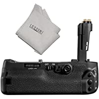 Pixel Vertax E20 Battery Grip Compatible for LP-E6 LP-E6N Battery for Canon 5D Mark IV +INSEESI Clean Cloth (Replacement for BG-E20)
