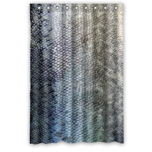 Best Cool Fish Scale Bathroom Shower Curtains Polyester Waterproof 48 Wide X 72 High