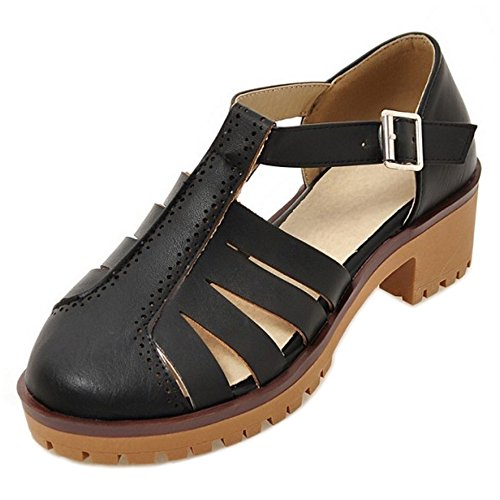 8 Black Bout Sandales TAOFFEN Ferme Femmes Fxn60X