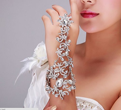 Sunshinesmile Rhinestone Bracelet Arm Chain Wedding Bridal Jewelry B0144Z55FG_US