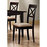 Coaster Furniture 100774 Set Of 4 Cappuccino Side Chairs With X Design