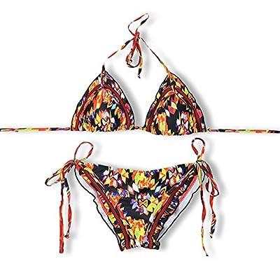 Bang-pa Sexy Halter String Floral Biquini Ruffled Cheeky Swim BeachSwimwear Women Bikini