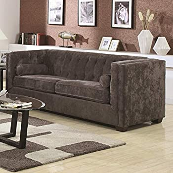 Alexis Chesterfield Sofa with Track Arms Charcoal