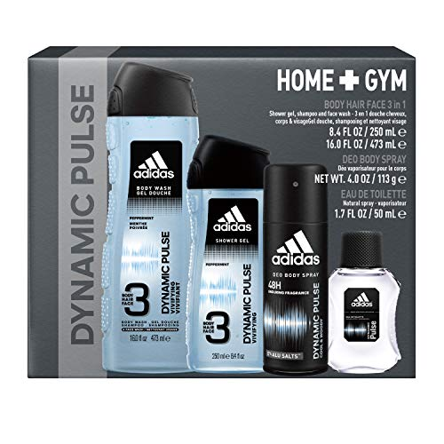 Adidas, Dynamic Pulse, Men's Home and Gym Gift Set,  Total Retail Value $32.00