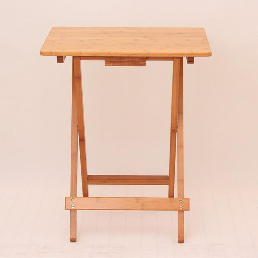 Living Room Furniture CJC Folding Table Square Table Simple Small Tea Table Portable Dining Table (Size : 50cm)