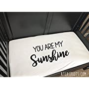 You Are My Sunshine Crib Sheet - Modern Nursery Decor - Baby Bedding - Monochrome Nursery - Crib Sheet