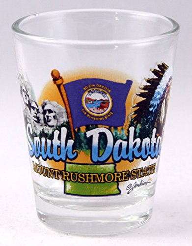 South Dakota Mount Rushmore State Elements Shot Glass