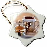 3dRose Danita Delimont - Food - Turkey, Anatolia, Nevsehir, Uchisar cafe, Turkish coffee. - 3 inch Snowflake Porcelain Ornament (orn_277004_1)