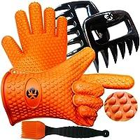 3 x juego No.1: los guantes de silicona para barbacoa /cocción No.1 más la trituradora de carne No.1 más el libro de silicona Baster PLUS No.1 con 344 recetas. Superior Value Set superior. 100% $ de vuelta garantía de satisfacción