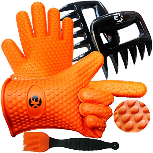 3 x No.1 Set: The No.1 Silicone BBQ /Cooking Gloves Plus The No.1 Meat Shredder Plus No.1 Silicone Baster PLUS eBooks w/ 344 Recipes. Superior Value Premium Set. 100% $ - Rubber Glove Boss Insulated