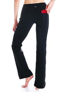 065e5ea989c22 Amazon.com: Bamans Womens Yoga Dress Pants Bootcut Leggings with ...