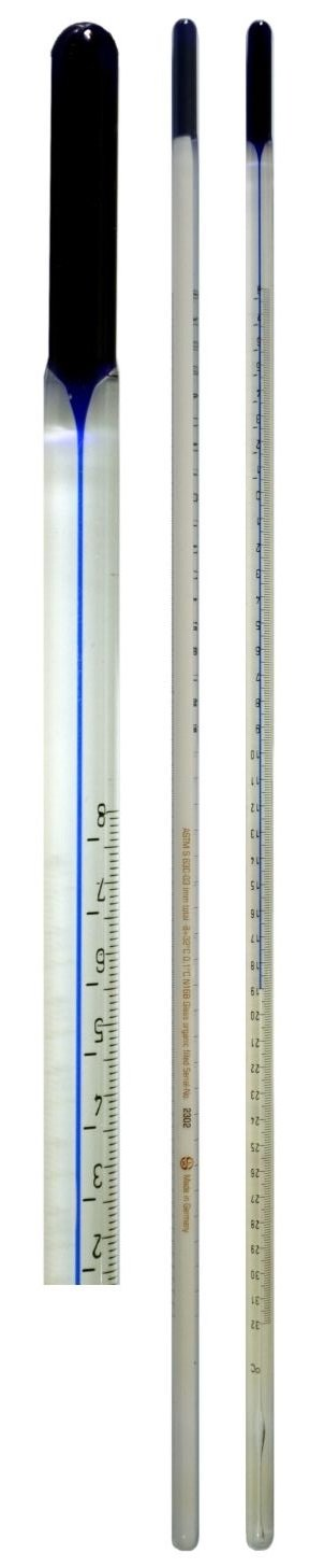 SEOH Thermometer ASTM Like Blue Spirit Fuel Rating Air Length 174mm Range +15 to