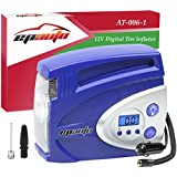 EPAuto 12V DC Auto Digital Tire Inflator Car Air Compressor Pump, Preset Pressure Shut Off Gauge and Overheat Control
