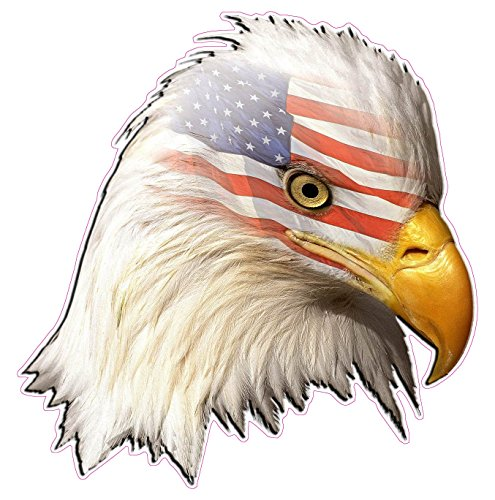(Eagle Head American Flag Decal 6