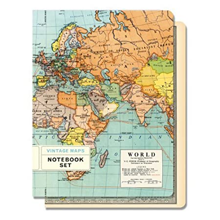 Cavallini set of 2 notebooks 55x725ins vintage world maps cavallini set of 2 notebooks 55x725ins vintage world maps lined gumiabroncs Choice Image