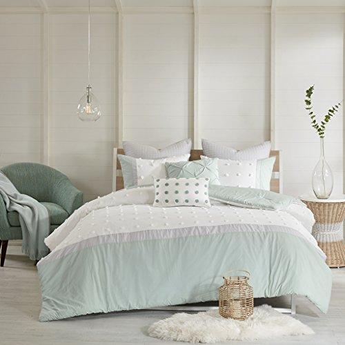 Urban Habitat Myla 7 Piece Cotton Jaquard Comforter Set Ivory Full/Queen