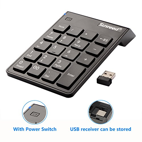 Sunreed Wireless Keyboard Receiver Notebook product image