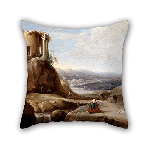 Tumblr Fawn Costume (Slimmingpiggy Oil Painting De Hooch, Carel Cornelisz - A Ruined Temple Cushion Covers ,best For Wife,divan,kids Girls,christmas,office,family 18 X 18 Inches / 45 By 45 Cm(twin)