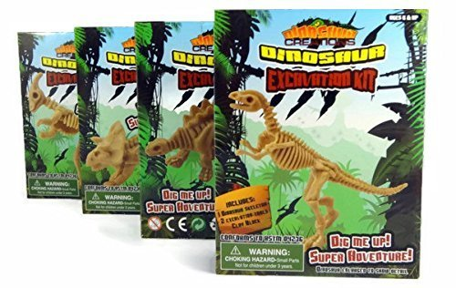 Dinosaur Excavation Kit 4 Pack - Dig Me Up - Super Adventure