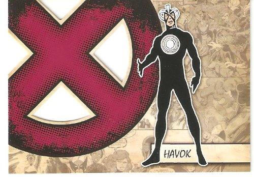 2011 Marvel Beginnings X-Men Die-Cut #X20 Havok (Insert Card)(Non-Sport Comic Trading Cards)(Upper Deck - Series 1)