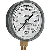 Winters PFE Series Single Scale Sprinkler Pressure Gauge, 3-1/2