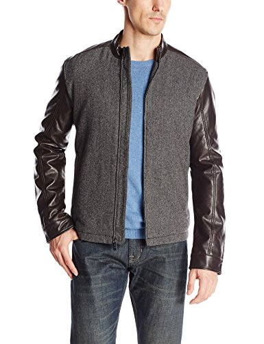 Perry Ellis Mixed Media Bomber