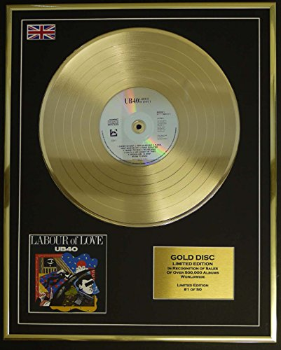 UB40/Cd Gold Disc Record Limited Edition/LABOUR OF LOVE