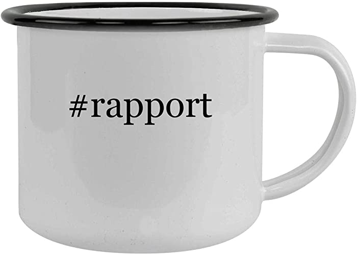 #rapport - 12oz Hashtag Camping Mug Stainless Steel, Black