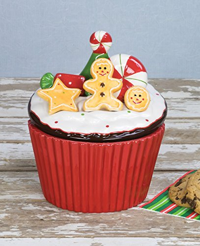 Halloween Cupcakes On Pinterest (Gingerbread Man Cupcake Shaped 7 inch Holiday Cookie Jar)