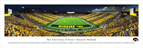 Iowa Football - End Zone - Stripe - Blakeway Panoramas Unframed College Sports Posters