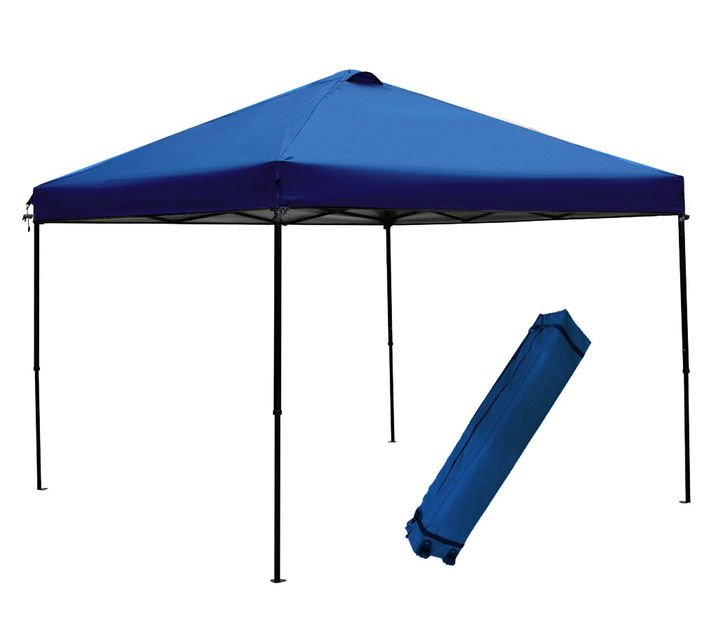 Abba Patio 10 x 10-Feet Outdoor Pop Up Portable Shade Instant Folding Canopy with Roller Bag, Blue