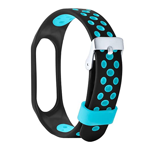 Amazon.com: Lywey Unique Replacement Accessories Bracelet Ventilate Sport Soft Wrist Strap Wristband for Xiaomi Mi Band 3: Sports & Outdoors