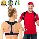 Posture Corrector for Women Men Upper Back Brace Posture Support Best Upright Go Posture Trainer Clavicle Brace Slouching Kyphosis Spine Corrector Scoliosis Under (Posture Corrector, 26' - 46')