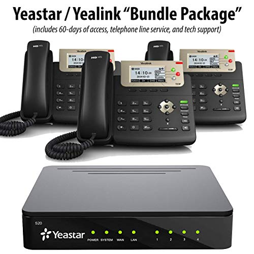 Yeastar S20 – PBX Business Phone System (Cloud/Hosted / Co-Located Version) w 3 Yealink SIP-T23G Phones