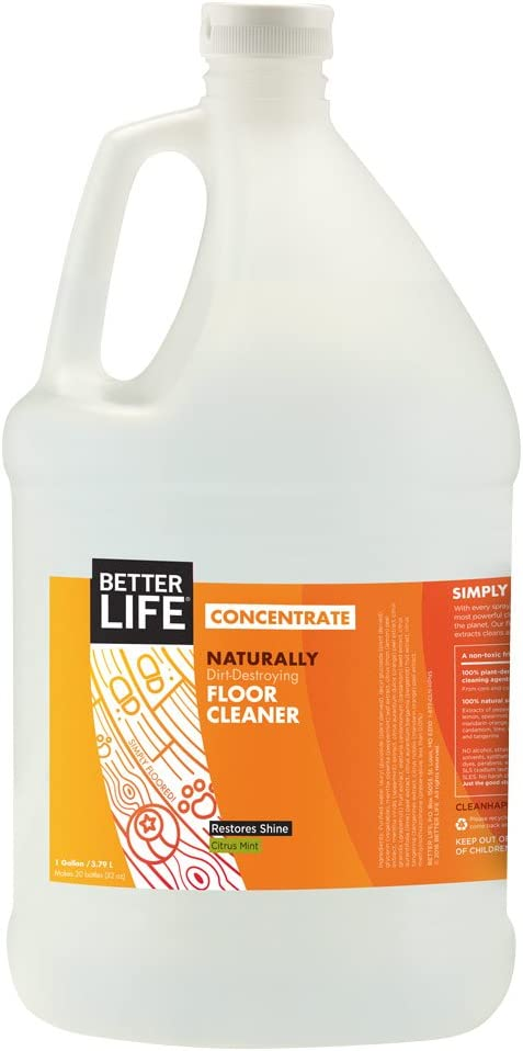 Better Life Concentrate Floor Cleaner, 128 Fl Oz (Pack of 1)