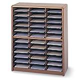Safco Value Sorter Organizer - 32-1/4 X13-1/2 X38'' - 36 Compartments - Black