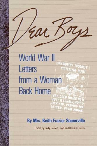 Read Online Dear Boys: World War II Letters from a Woman Back Home pdf epub