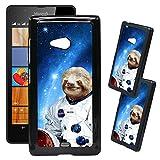 [TeleSkins] - Microsoft Lumia 540 Designer Plastic Case - Hipster Astronaut Sloth - Ultra Durable HARD PLASTIC Protective Snap On Back Case / Cover for Microsoft Lumia 540.