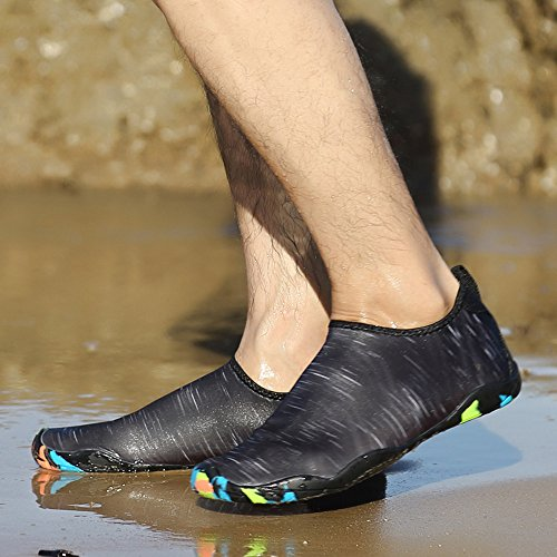 BUIMIN Chancletas Zapatillas Adolescente-Unisex Atractiva Transpirable Sólido Para Playa Casual Moda Verano Negro Talla 36/37/38/39/40/41/42/43/44 (39)