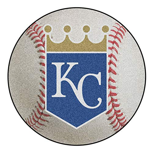 - MLB Kansas City Royals Baseball Shaped Mat Round Area Rug