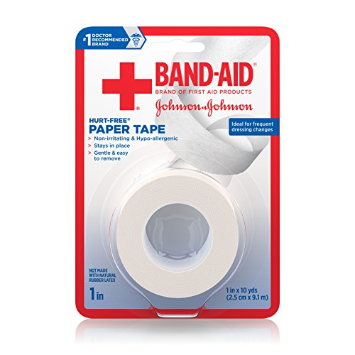 Band-Aid Brand Of First Aid Products Hurt-Free Paper Tape, 1 Inch By 10 Yards (Pack of 6)