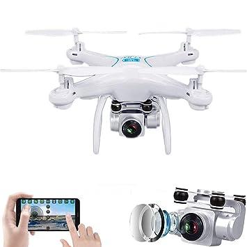 YEARYOWN Drone GPS con cámara 1080P, WiFi FPV RC Quadcopter, GPS ...