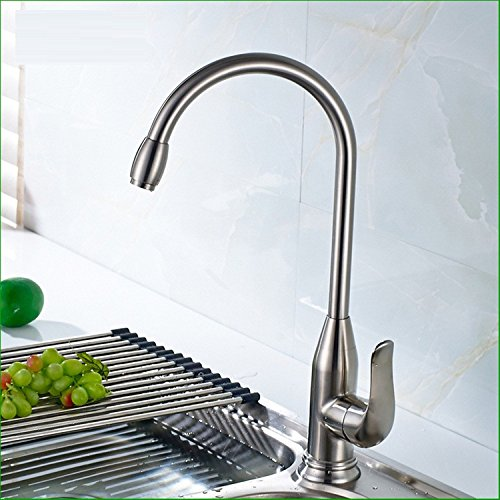 Bijjaladeva Antique Bathroom Sink Vessel Faucet Basin Mixer Tap Stainless steel single handle single hole and cold water faucet swivel kitchen sink dish washing basin mixer