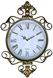 LuLu Decor, Antique Roman Metal Wall Clock in Fleur De Lis Design (LH170) For Sale
