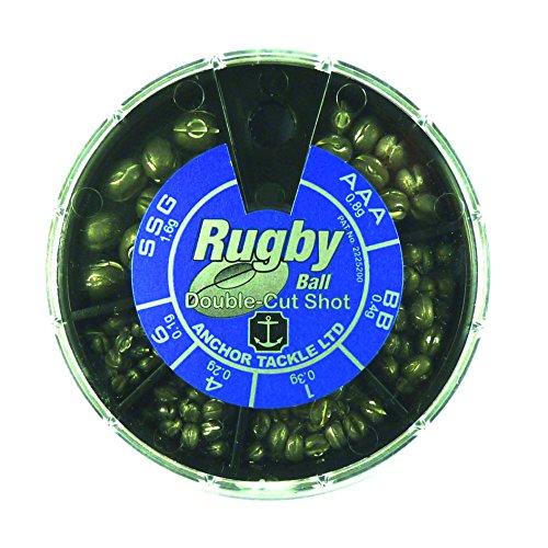 Anchor Tackle Rugby Ball Double-Cut Shot 6 Division Dispensador, Unisex, Negro, L: Amazon.es: Deportes y aire libre