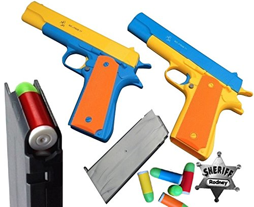 2-pack-playset-classic-colt-1911-toy-gun-with-soft-bullets-ejecting-magazine-and-pull-back-action-11