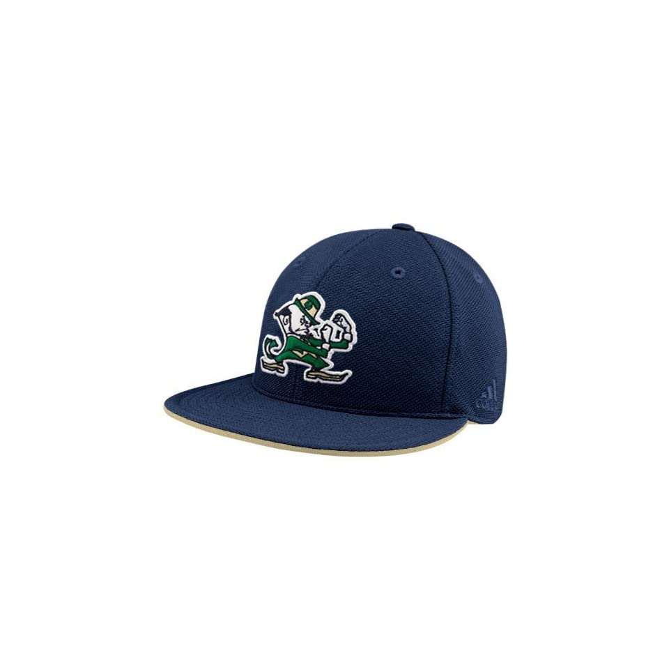 adidas Notre Dame Fighting Irish Navy Blue Pique Mesh Fitted Hat