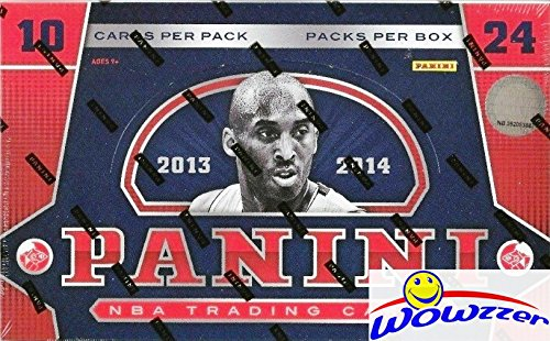 2013/14 Panini Basketball HUGE Factory Sealed HOBBY Box with TWO(2) AUTOGRAPHS! Look for Rookie Cards and Rookie Autographs of the GREAK FREAK Giannis Antetokounmpo! - Hobby Pack Basketball