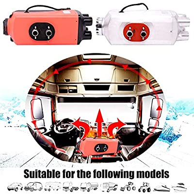 SHZONS Air Diesel Heater,12V 5KW Vehicle Heater Planar,LCD Thermostat 4 Holes Auto Cars Trucks Motor Homes Boats Bus Parking Speed Hot