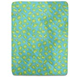 Cheetah Goes For A Swim Fitted Sheet: King Luxury Microfiber, Soft, Breathable